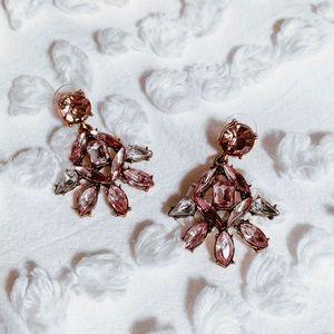 Luxe Studded Chandelier Earrings
